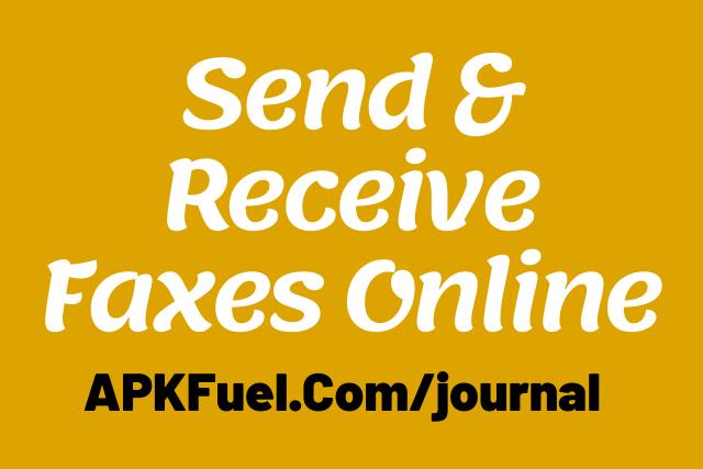 Send & Receive Faxes Online