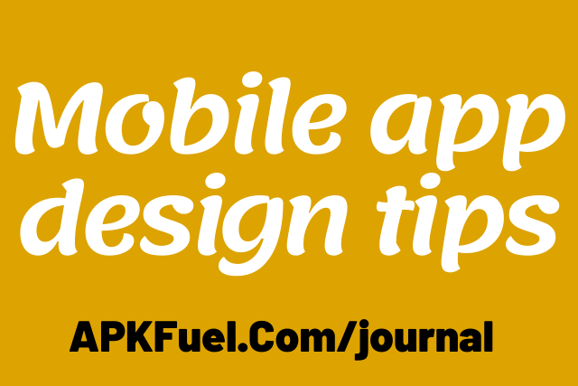 mobile app design tips