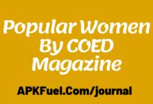 Popular Women By COED Magazine