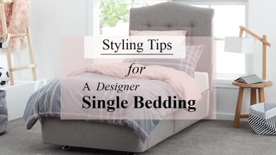 Styling Tips for a Designer Single Bedding
