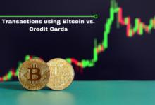 Transactions using Bitcoin vs. Credit Cards