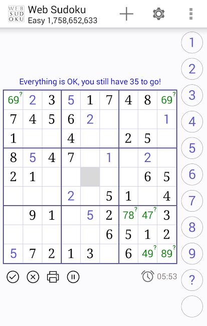 Web Sudoku 1