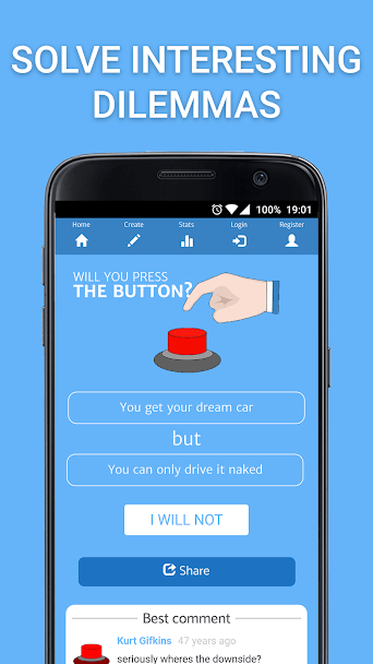 Will You Press The Button? 1
