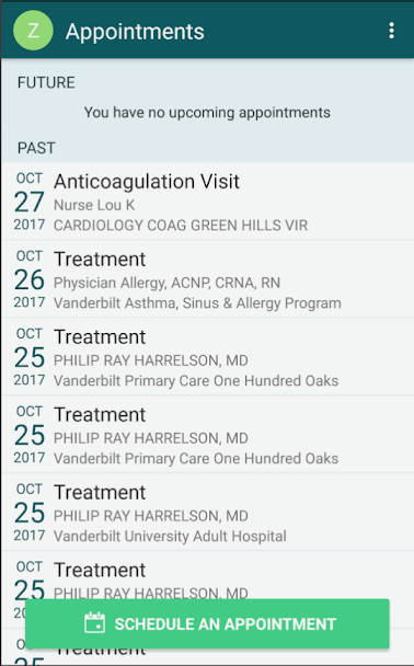 My Health at Vanderbilt 3